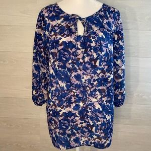 White Stag Blue Purple Light Weight Blouse